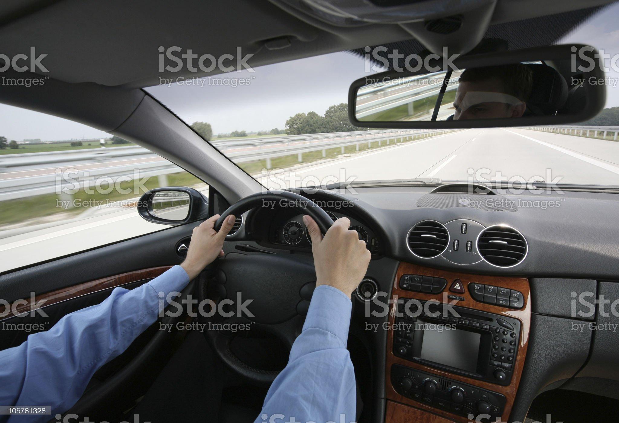 speeding on the highway royalty-free stock photo
