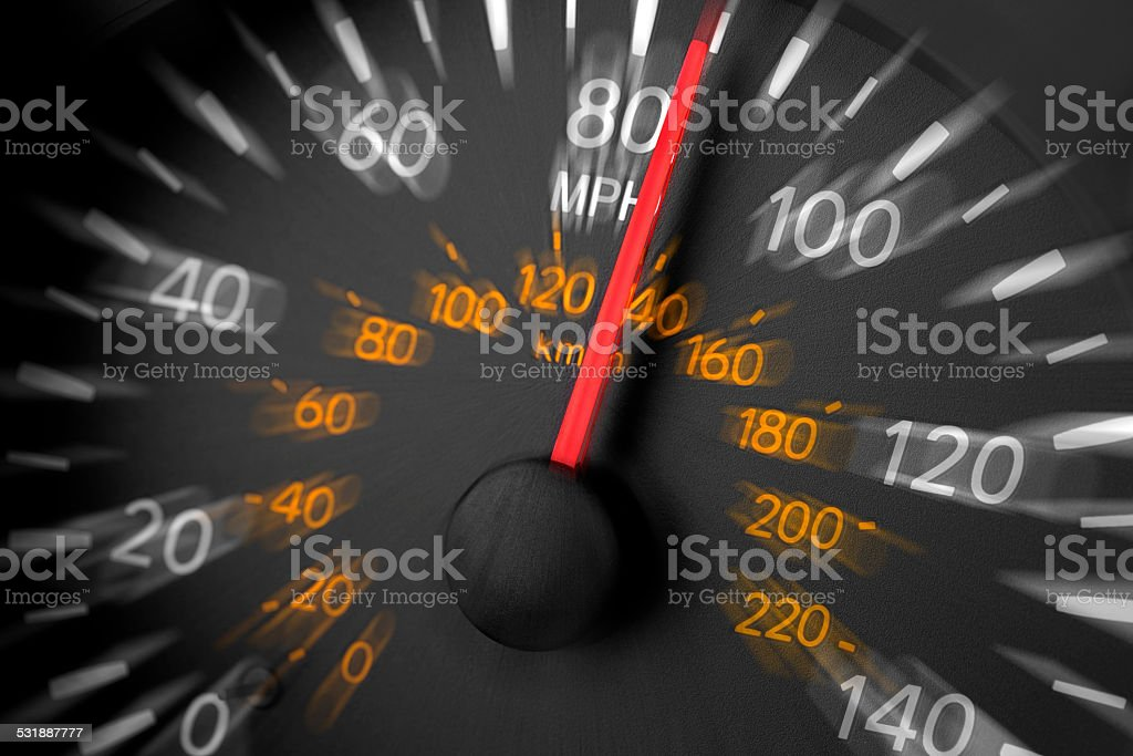 Speeding stock photo