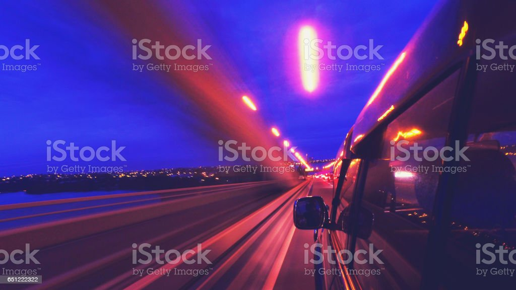 Speeding. stock photo