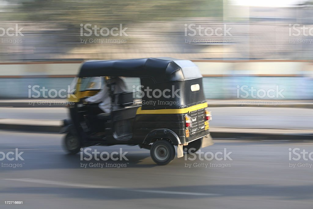 Speeding rickshaw royalty-free stock photo