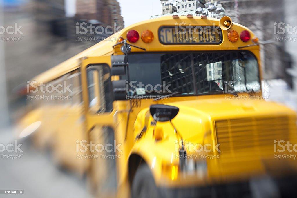 Speeding Schoolbus royalty-free stock photo
