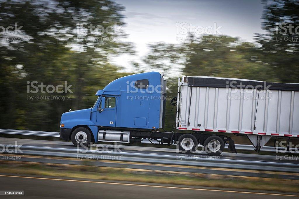 Speeding Semi Hauler royalty-free stock photo