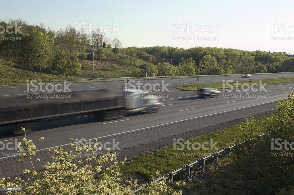 Speeding Semi royalty-free stock photo
