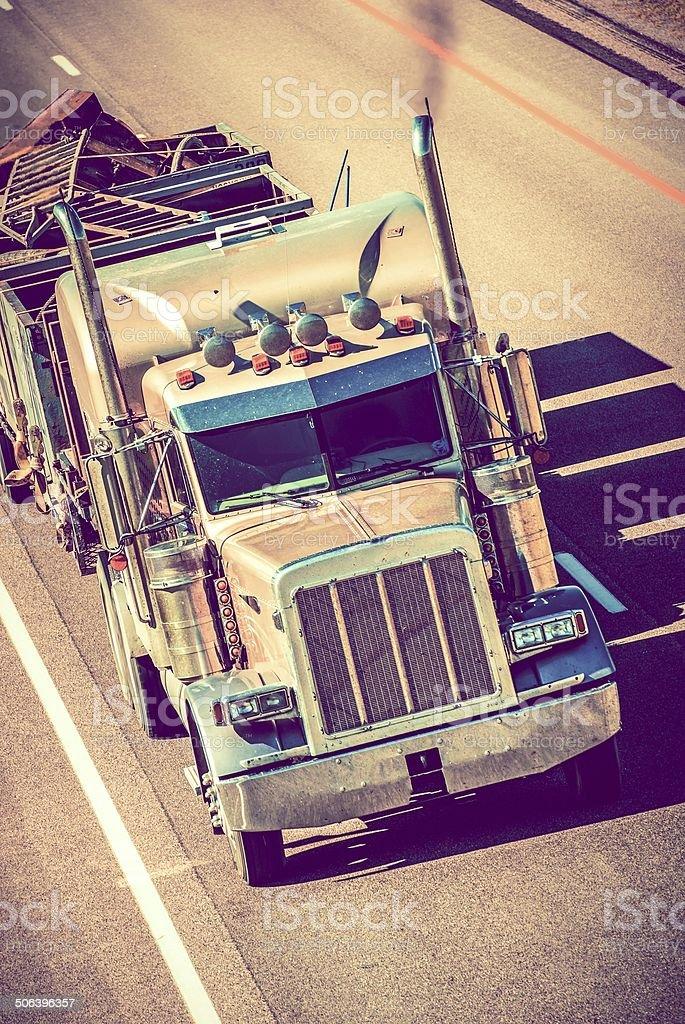 Speeding Semi Truck royalty-free stock photo