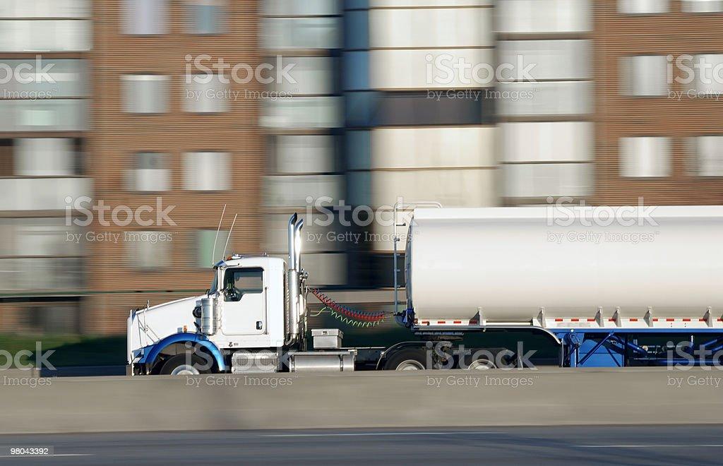 Speeding tanker royalty-free stock photo