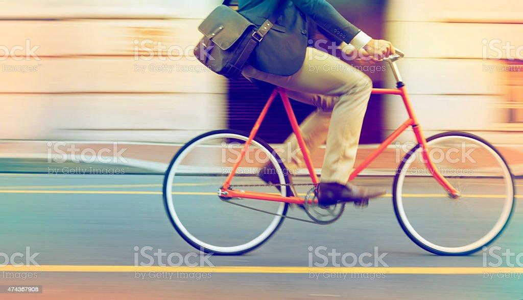 Speeding through the streets stock photo