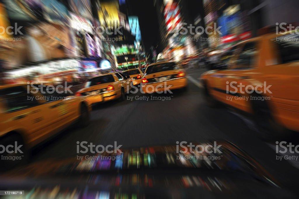 Speeding through Times Square royalty-free stock photo