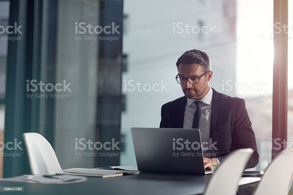 Speeding through work with technology stock photo