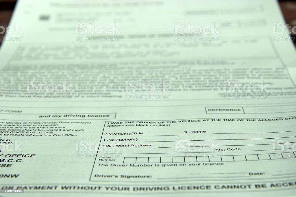 Speeding Ticket stock photo