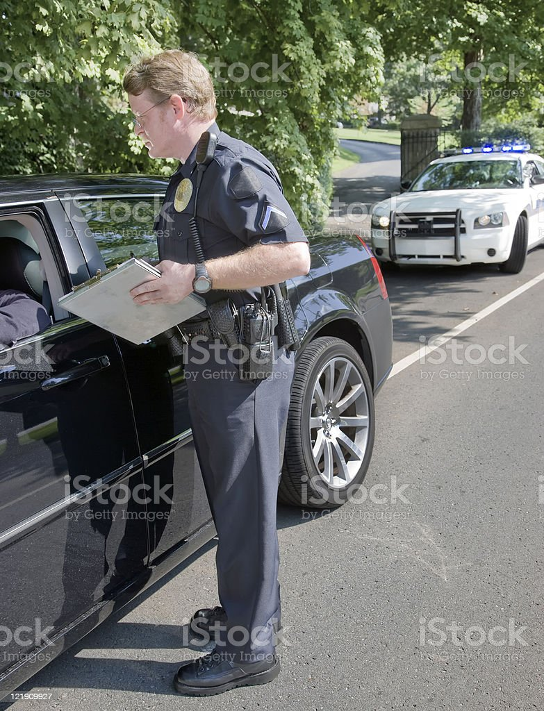 Speeding Ticket royalty-free stock photo
