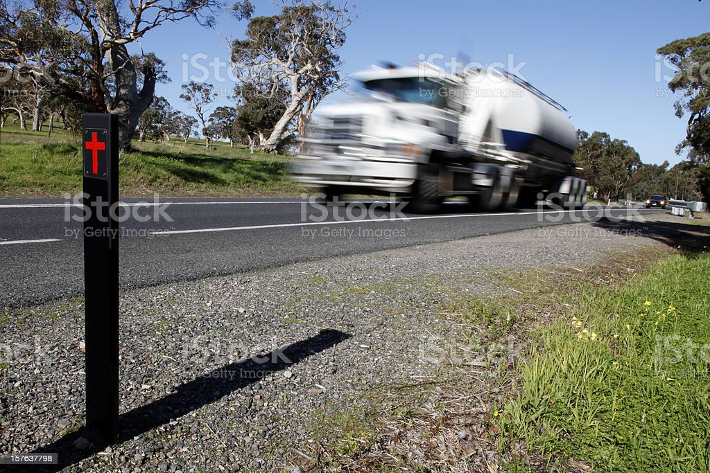 Speeding Truck royalty-free stock photo