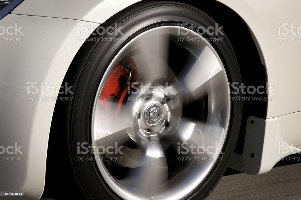 Speeding Wheel stock photo