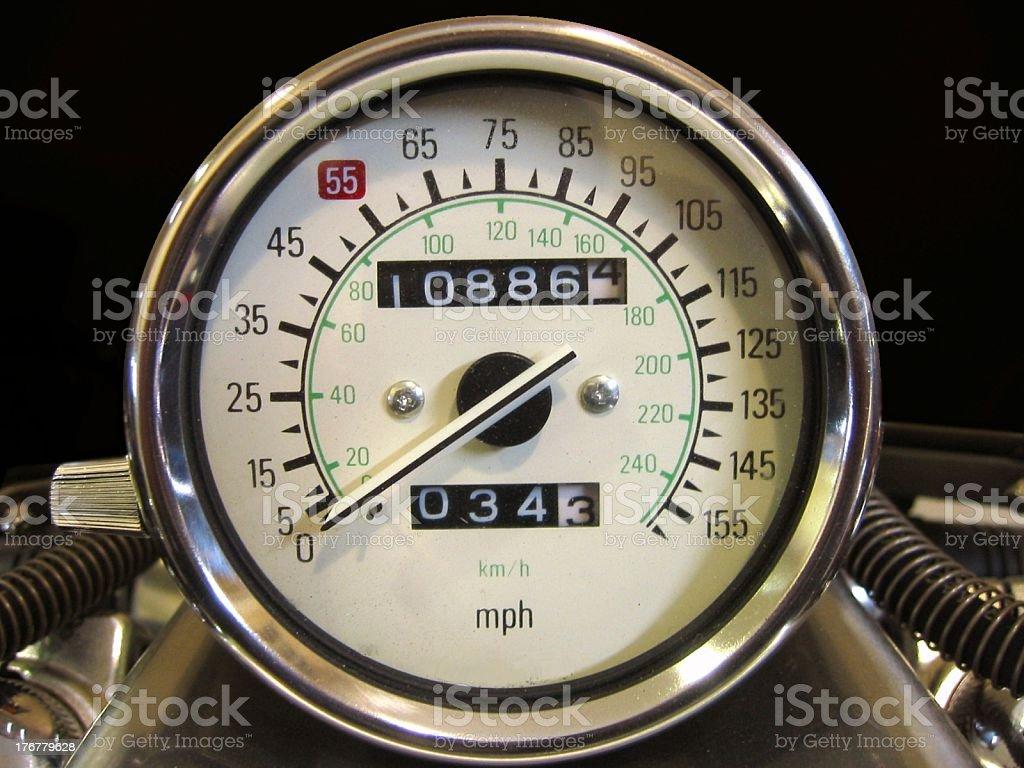 Speedmeter of Motorcycle stock photo