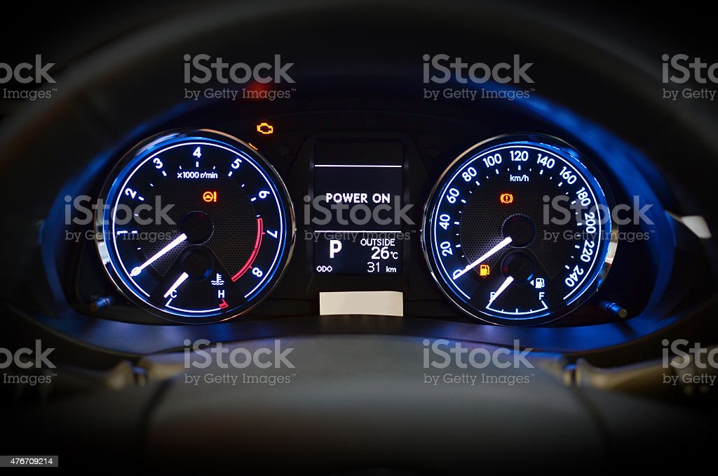 CAR Speedmeter stock photo