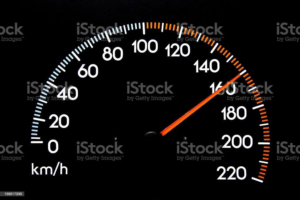Speedometer 160 kmh stock photo