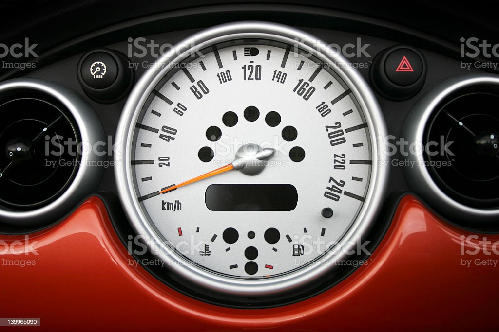 Speedometer 5 royalty-free stock photo