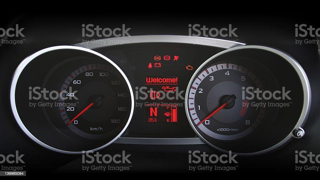 Speedometer 7 royalty-free stock photo