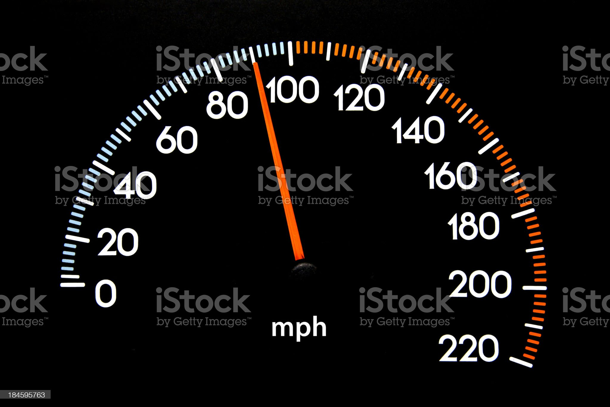 Speedometer 90 mph royalty-free stock photo
