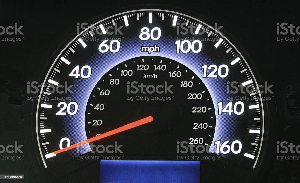 Speedometer at Zero royalty-free stock photo