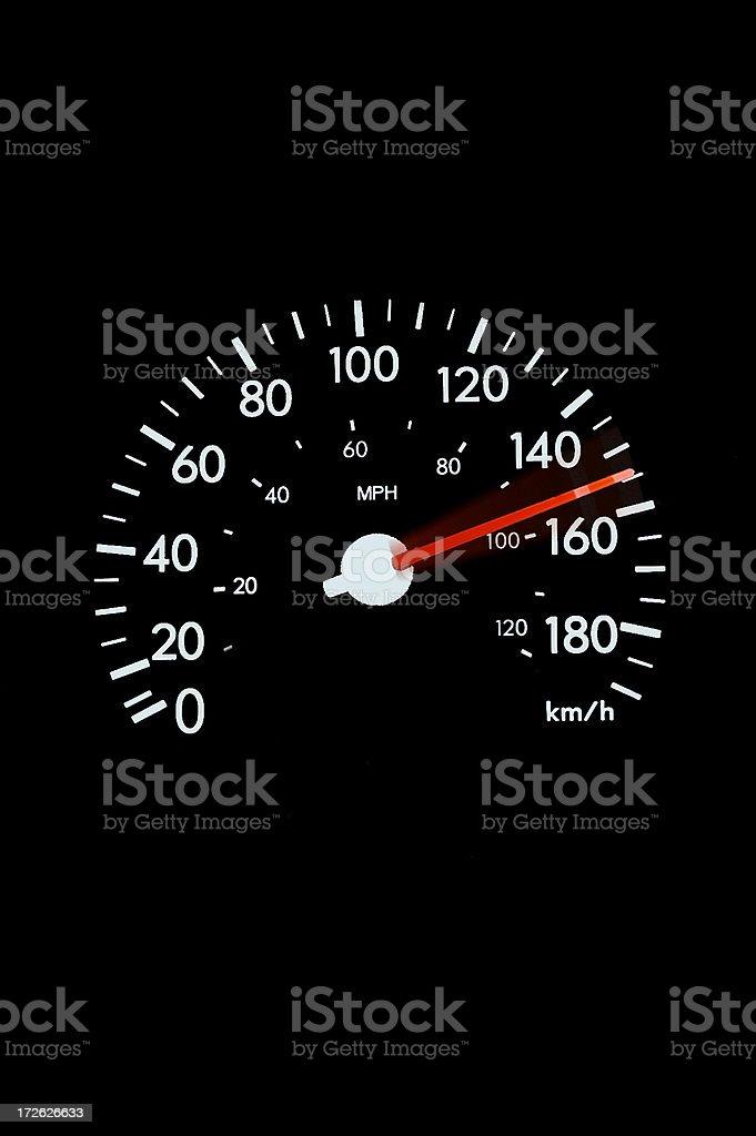 Speedometer - blur stock photo