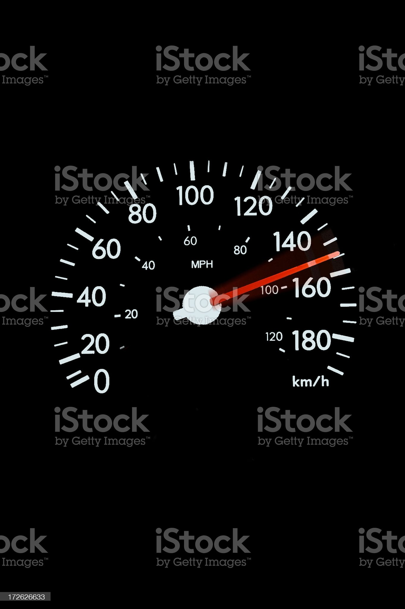 Speedometer - blur royalty-free stock photo