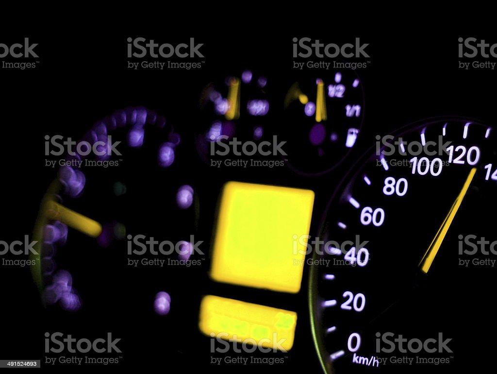 Speedometer close up royalty-free stock photo