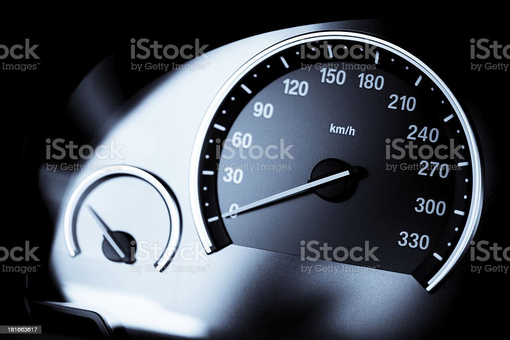 Speedometer detail royalty-free stock photo