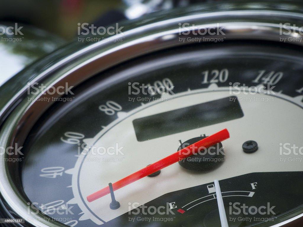 speedometer detail stock photo