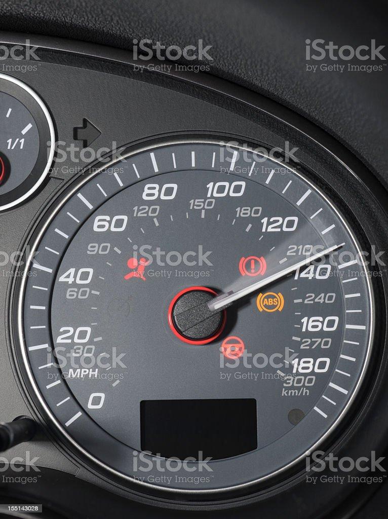 Speedometer Display: Very High Speed royalty-free stock photo