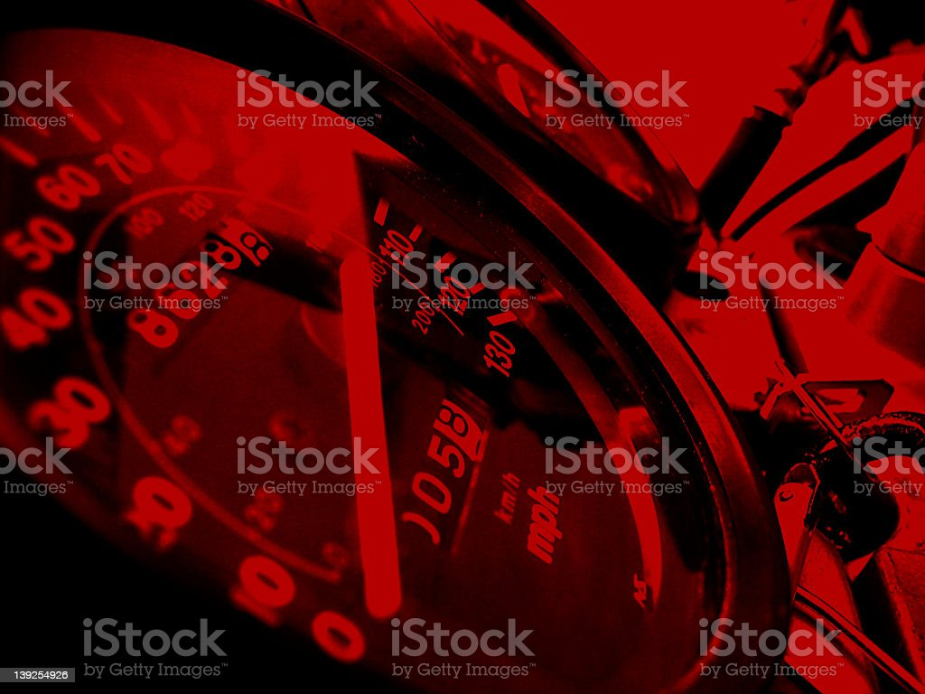 Speedometer Furious Red royalty-free stock photo