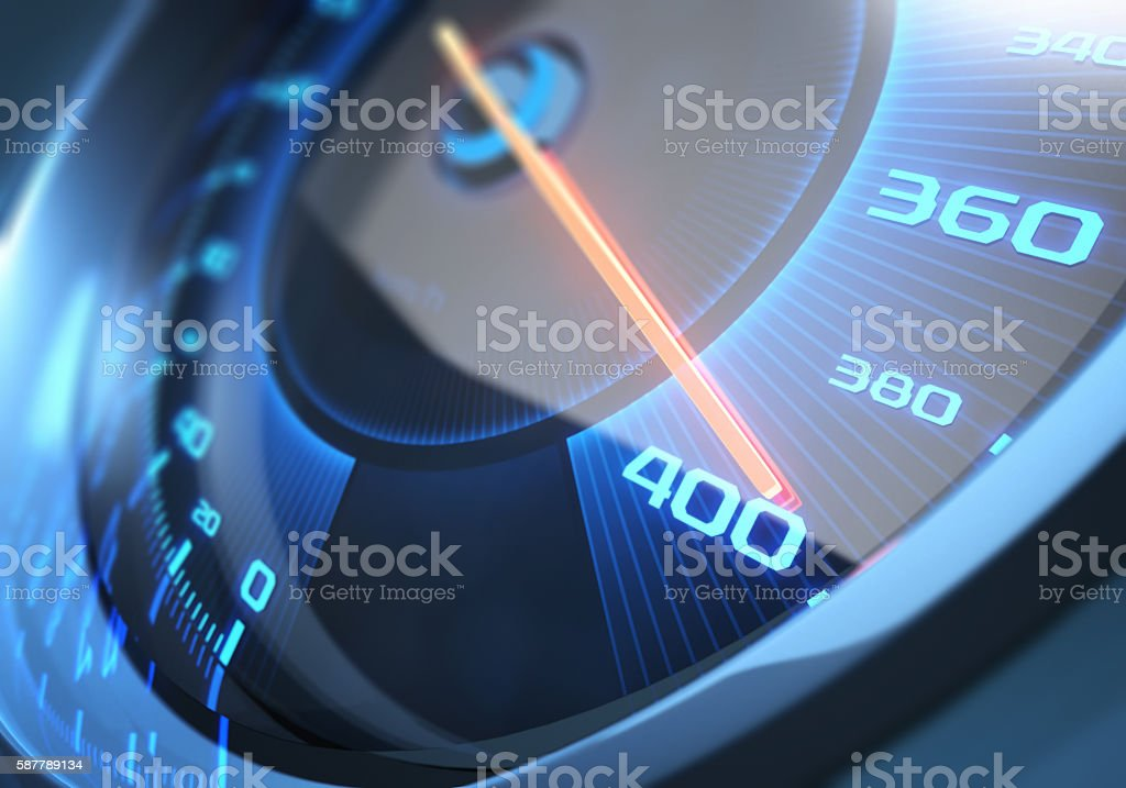 Speedometer High Speed stock photo