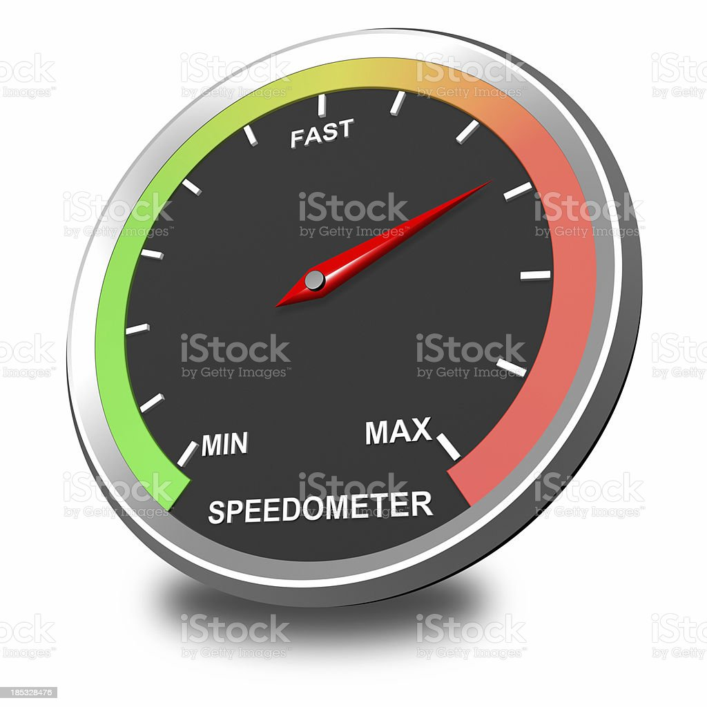 Speedometer Icon royalty-free stock photo