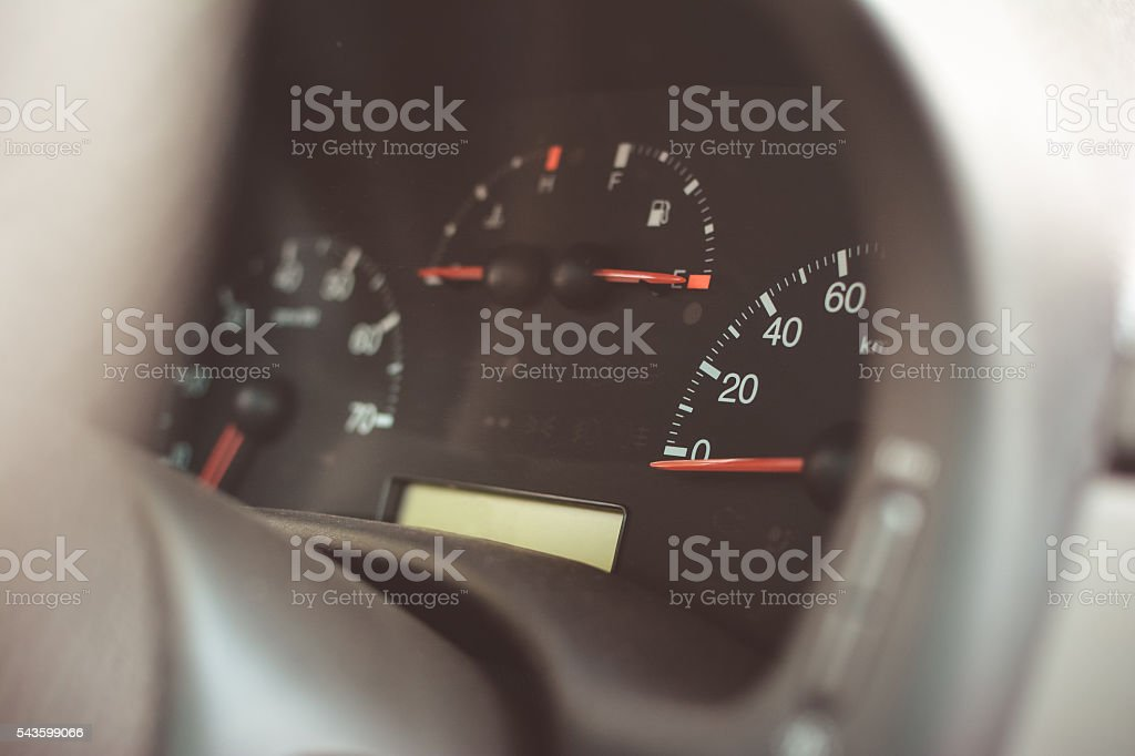 speedometer in the car stock photo