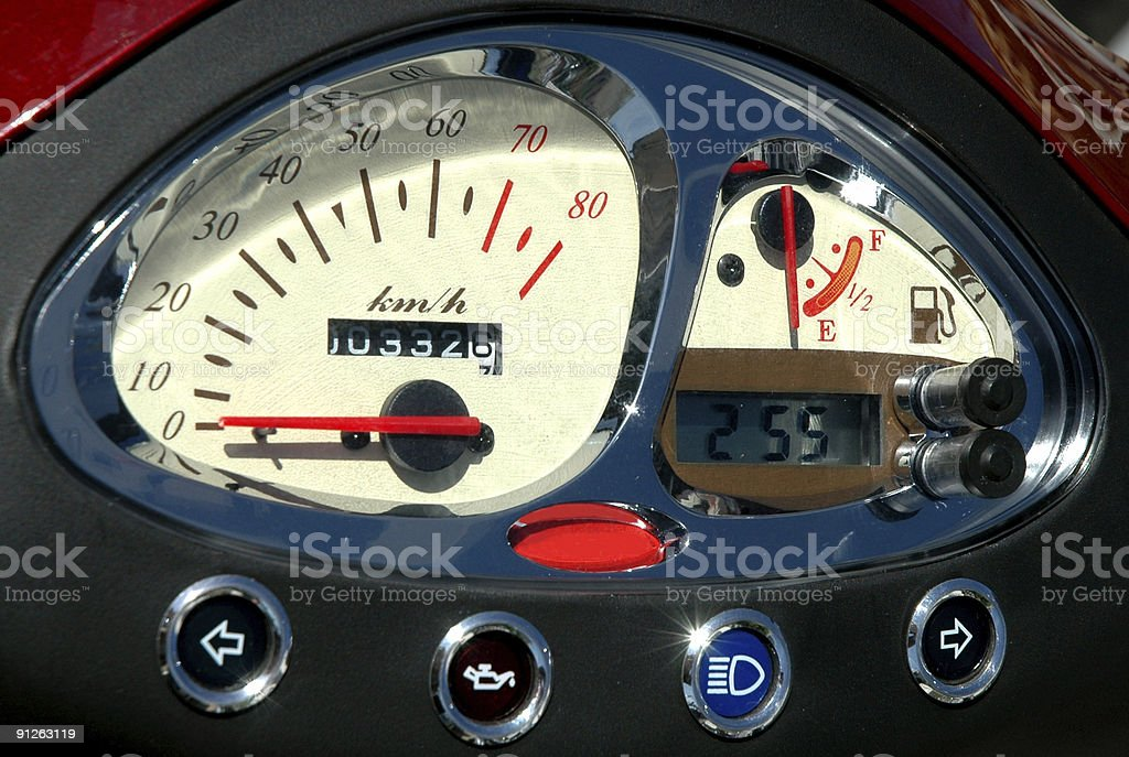 speedometer of a motorbike royalty-free stock photo