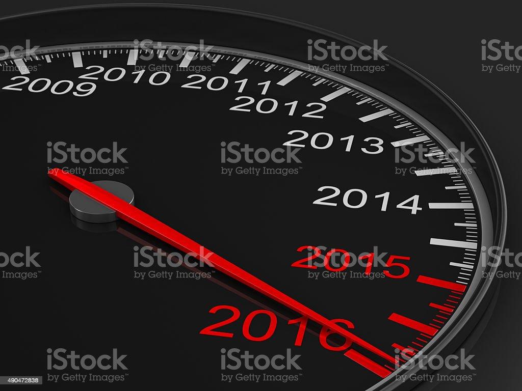 speedometer on black background. 3D image stock photo
