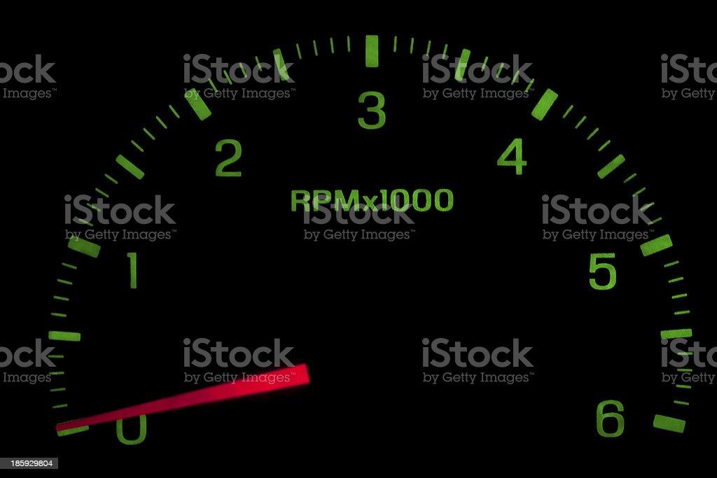 Speedometer on black isolated stock photo