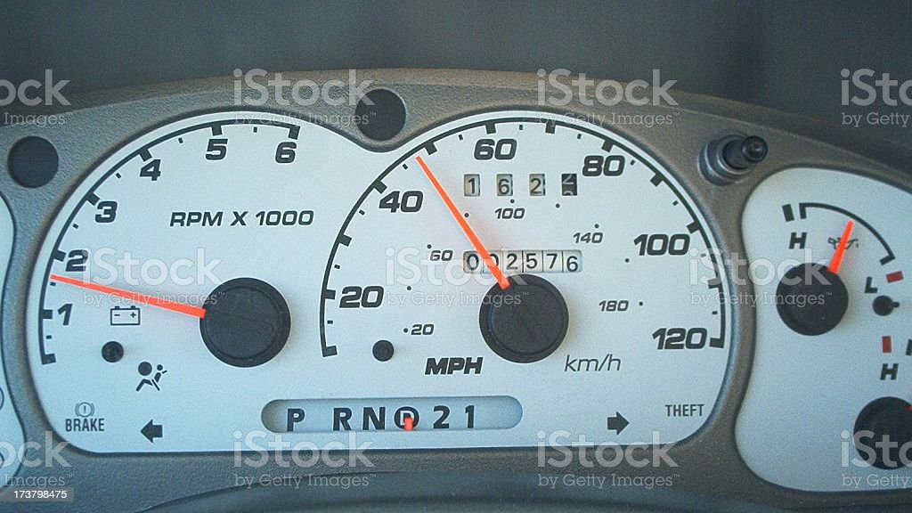 Speedometer - shot while driving royalty-free stock photo