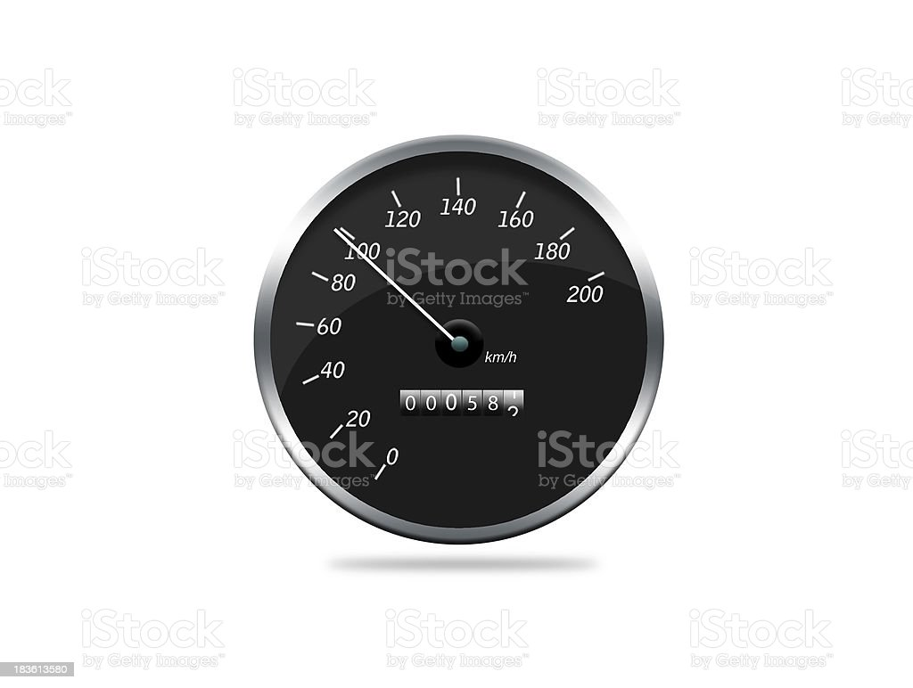 speedometer showing movement royalty-free stock photo