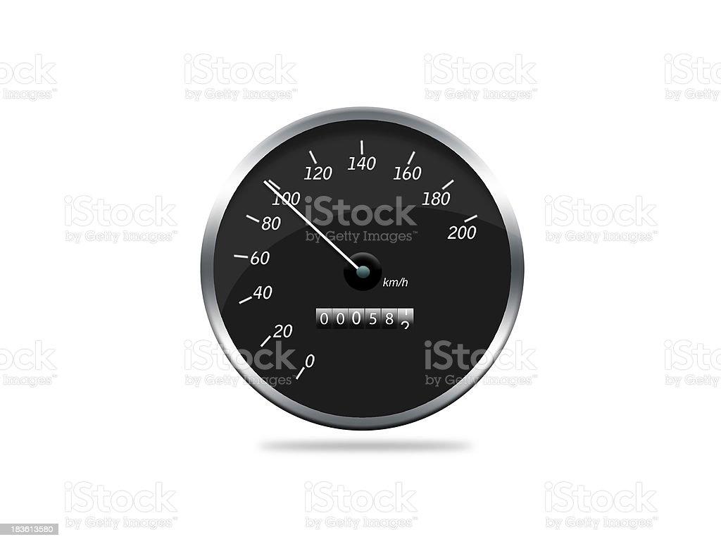 speedometer showing movement stock photo