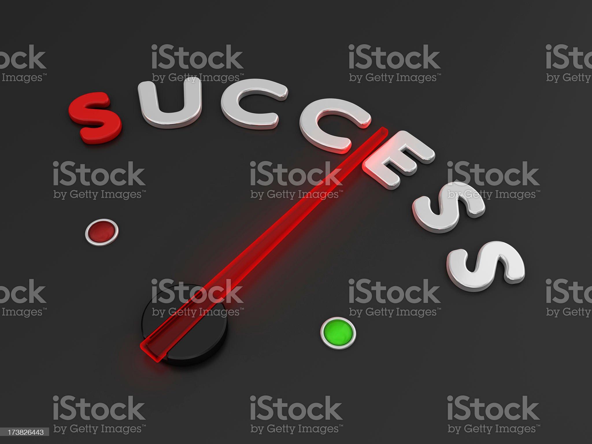 Speedometer - Success royalty-free stock photo