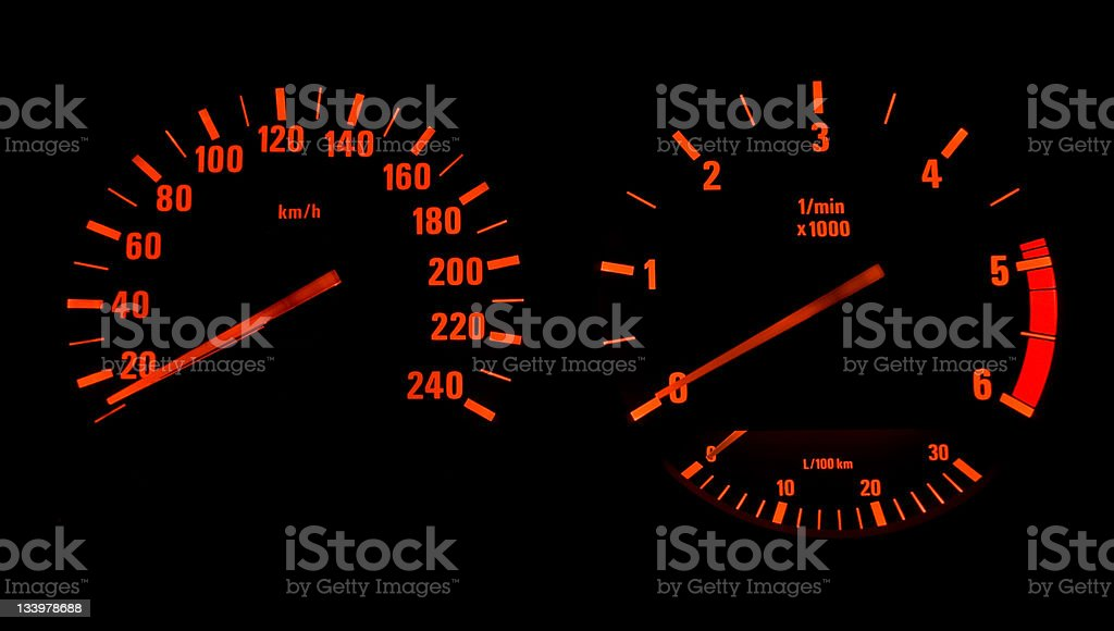 Speedometer - Tachometer royalty-free stock photo
