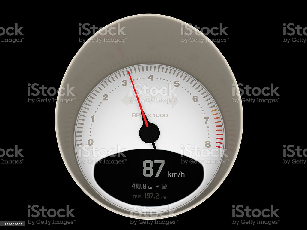 Speedometer / Tachometer royalty-free stock photo