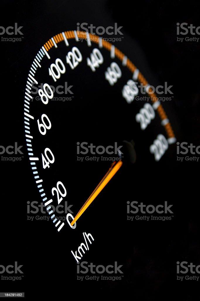 Speedomter 0 kmh stock photo