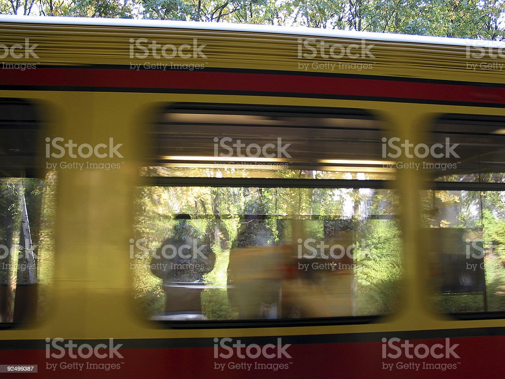 Speed-Train royalty-free stock photo