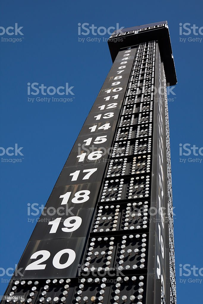 Speedway Leaderboard royalty-free stock photo
