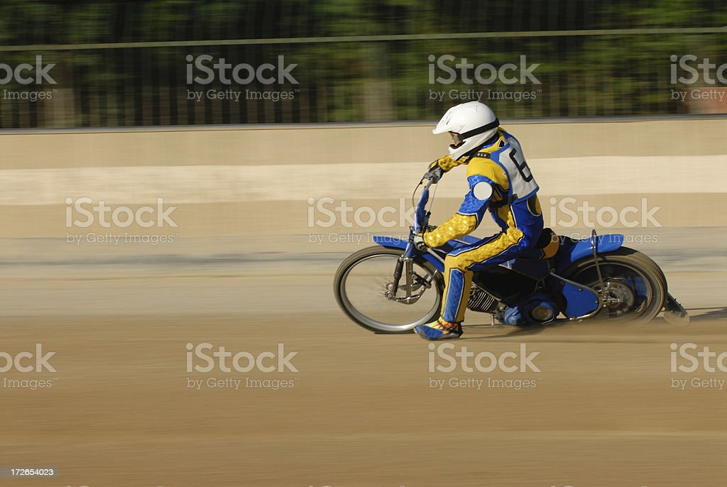 speedway racer royalty-free stock photo