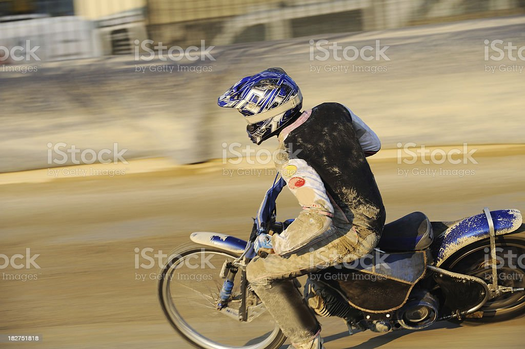 Speedway racer stock photo