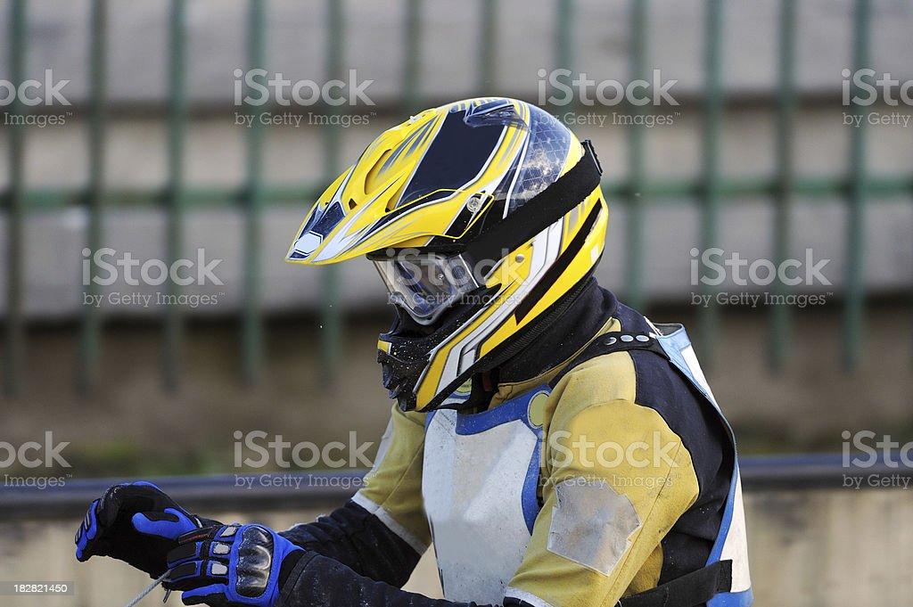 Speedway racer portrait royalty-free stock photo