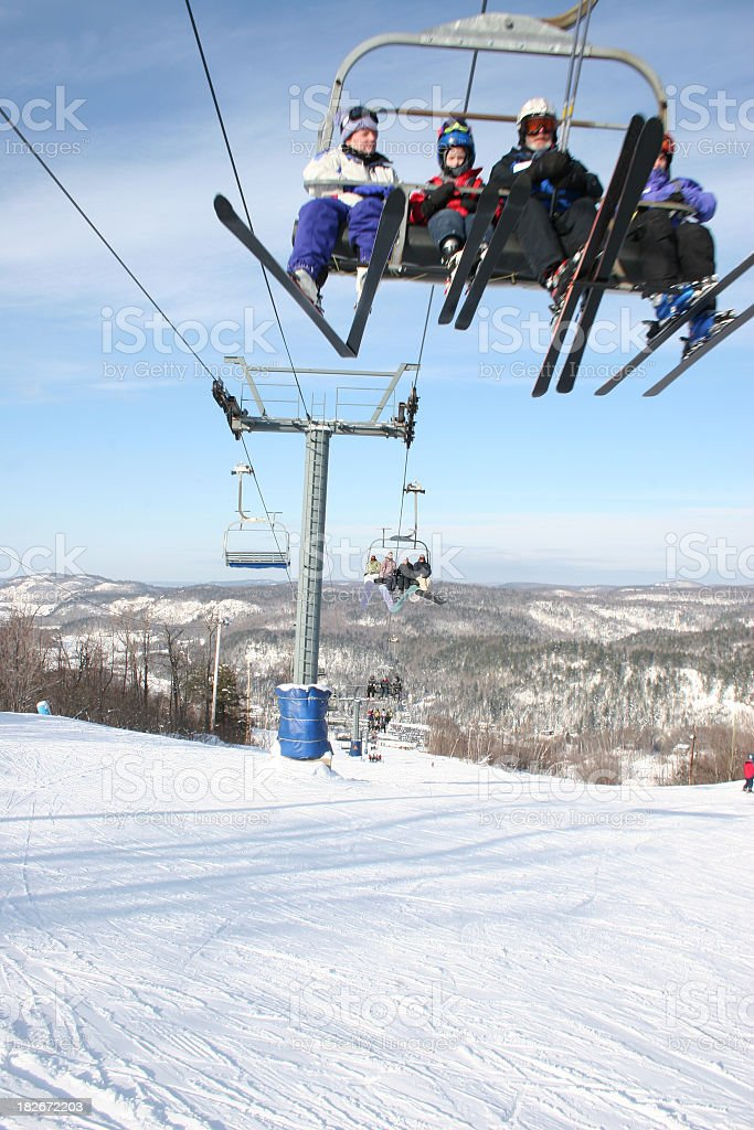 Speedy chairlift royalty-free stock photo