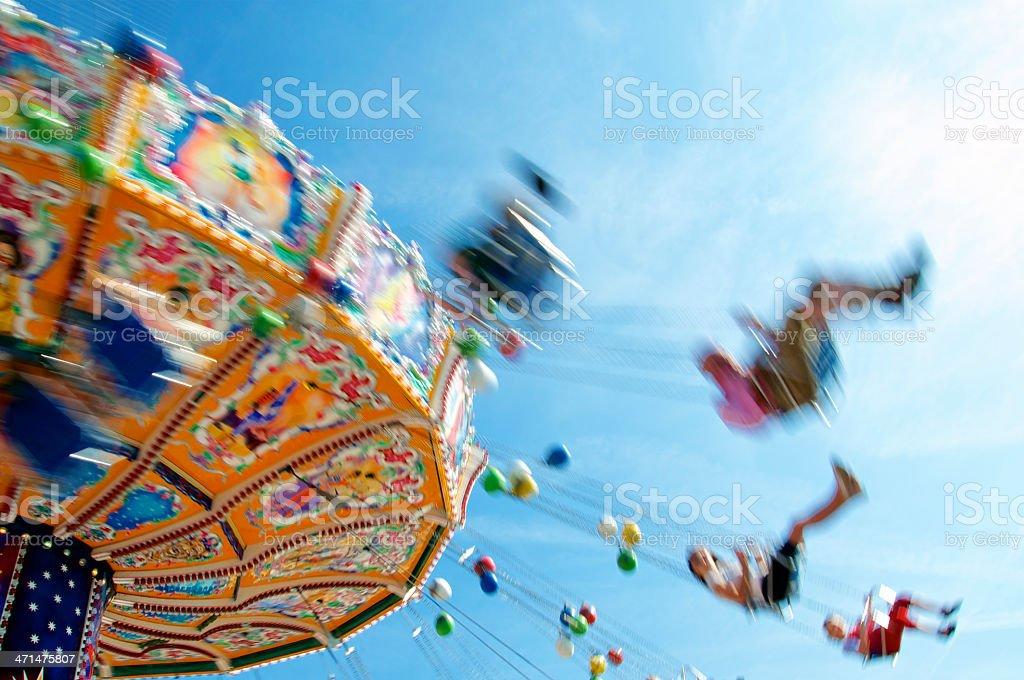Speedy Chairoplane stock photo